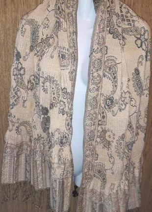 Золотистий шарф butet  люрекс