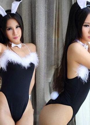 5-202 эротический игровой костюм кролик зайка сексуальное белье эротическое белье