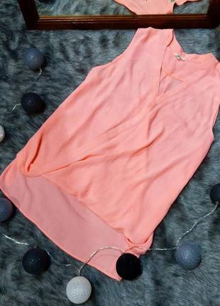 Свободная блуза на запах неонового оттенка river island.