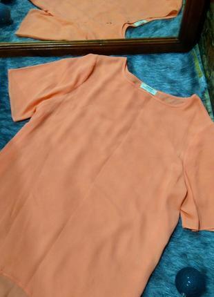 Блуза топ кофточка с удлиненной спинкой papaya2 фото