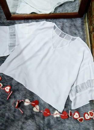 Блузка кофточка с ажурными вставками warehouse2 фото