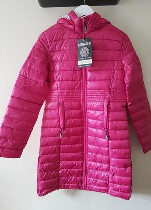 Новое термо пальто geographical norway парка/куртка/пуховик деми/зима