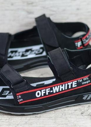 Мужские кожаные сандалии off-white