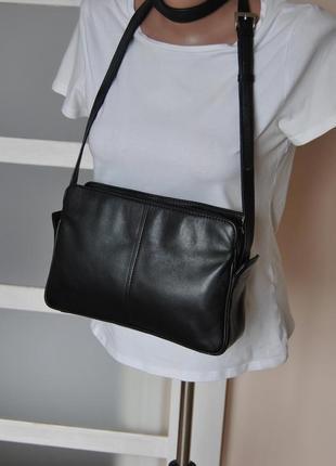 Кожаная сумка кроссбоди мессенджер hotter / шкіряна сумка10 фото