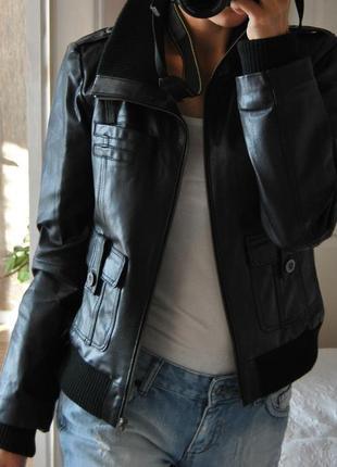 Кожаная куртка vero moda / шкіряна куртка9 фото