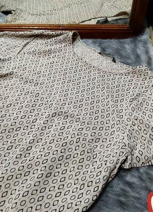 Блуза топ кофточка прямого кроя из натуральной вискозы bonmarché2 фото