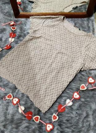 Блуза топ кофточка прямого кроя из натуральной вискозы bonmarché