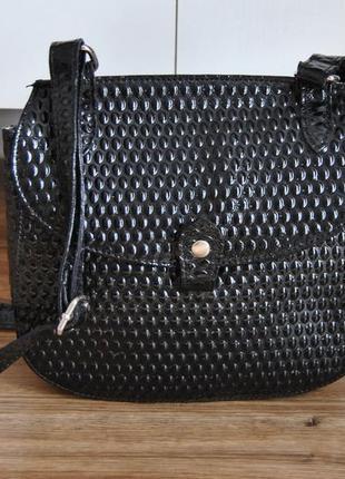Кожаная сумка кроссбоди bericci / шкіряна сумка2 фото