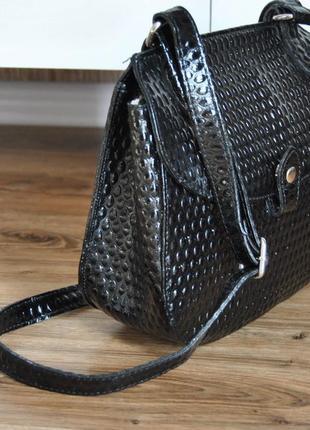 Кожаная сумка кроссбоди bericci / шкіряна сумка4 фото