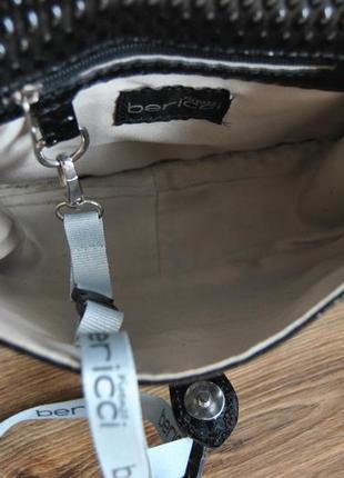 Кожаная сумка кроссбоди bericci / шкіряна сумка9 фото