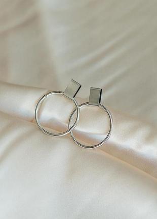 🔗базовые серьги-гвоздики с кольцами в стиле минимализм