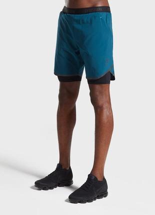 Мужские шорты 2в1 gymshark tech оригинал