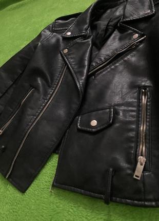 Кожаная укорочённая куртка косуха с замками 💣💣💣