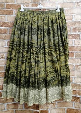 Длинная летняя юбка батик