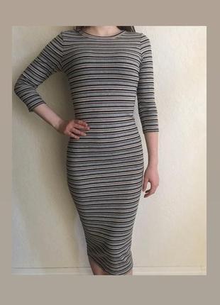 Платье/ платье трикотажное / платье обтягивающее/ платье миди