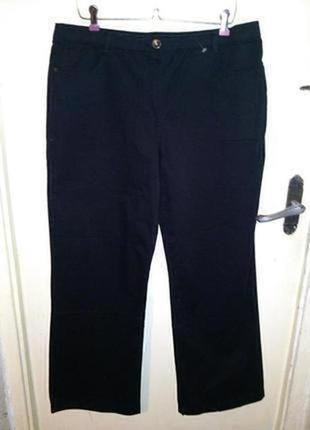 Стрейч,натуральные,высокая посадка,чёрные джинсы-брюки,большого размера,essentials