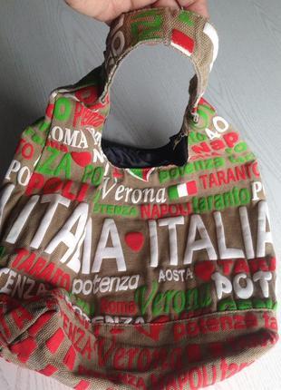 Сумка торба шоппер из мешковины1 фото