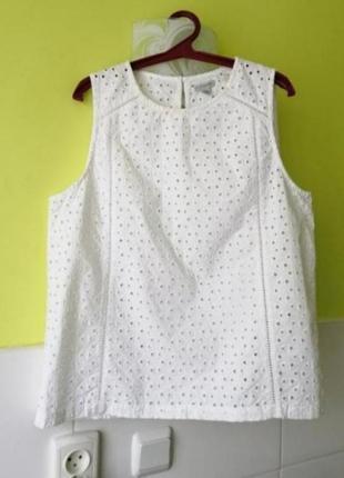 Белая блуза топ прошва jigsaw