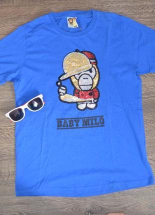 Футболка свежие коллекции baby milo ® mens t-shirts