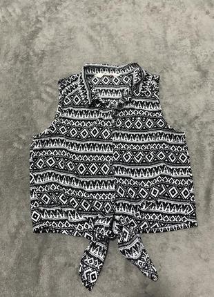 Рубашка блуза 8-10 р