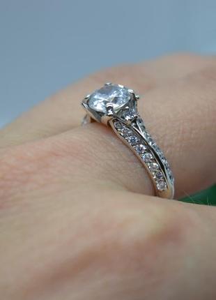 Серебряное #кольцо #каблучка #обручка #камни #заручини 925 все размеры