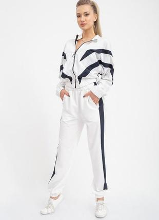 Спорт костюм женский цвет бело-синий