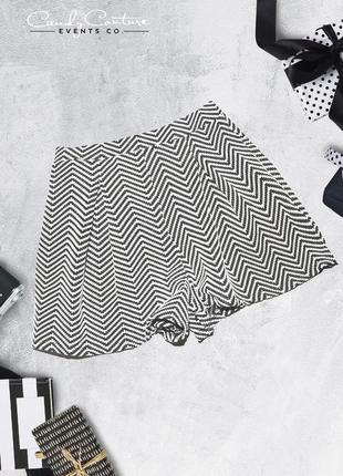 Шорты черно-белые трикотажные candy couture