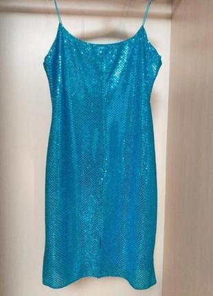 Яркое платье сарафан на тонких бритедях в бельевом стиле