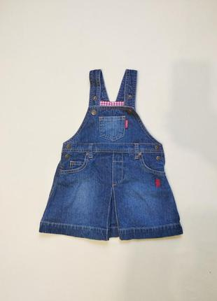 Актуальный джинсовый сарафан h&m малышке 2-2.5 годика