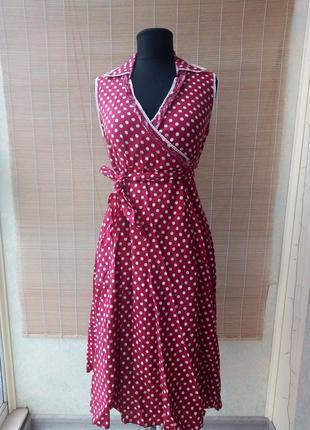 Шикарное винтажное платье в горох