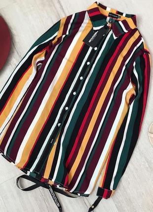 Рубашка туника  в полоску