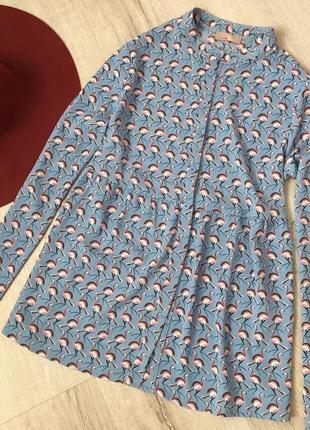 Рубашка с фламинго