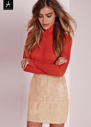 Новая юбка с карманами под велюр atmosphere