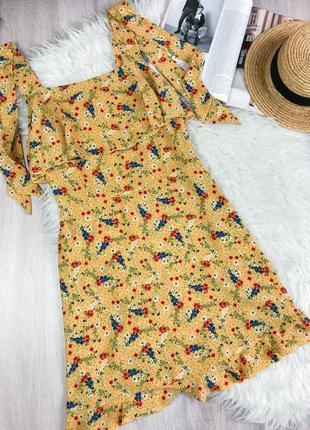 Яркое платье в цветочный принт new look