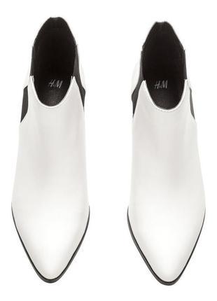 H&m белые ботинки\сапожки\полусапожки - 40 размер