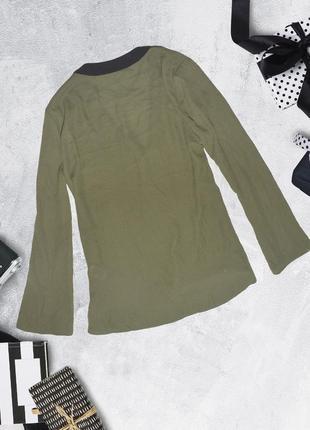 Блуза хаки асимметричная atmosphere2 фото