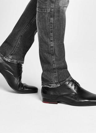 Дорогой бренд, кожа полностью, firetrap англия, мужские туфли разм 38