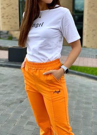 Спортивный костюм футболка и штаны на манжетах4 фото