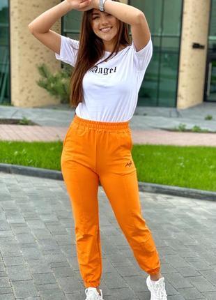Спортивный костюм футболка и штаны на манжетах3 фото