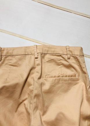 Стильные укороченные брюки h&m пудрового цвета3 фото