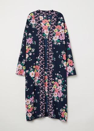 Кардиган кимоно в цветочный принт h&m p.36