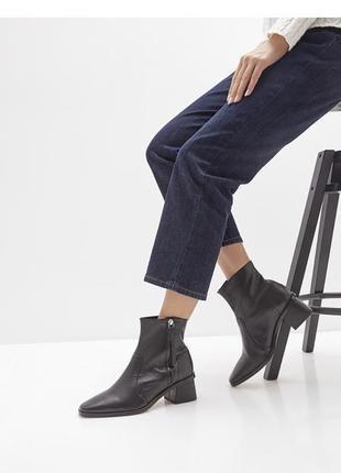 Кожаные ботинки ботильоны ankle boots  topshop 36 размер