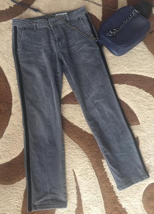 -edc- шикарні укорочені джинси з лампасами 👖 джинсы