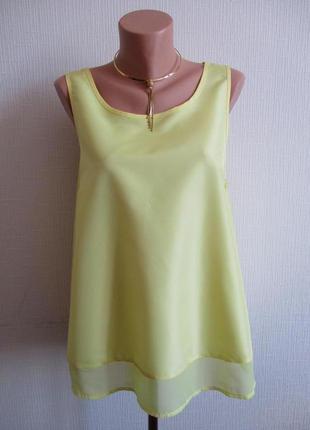 Желтая майка-блуза atmosphere