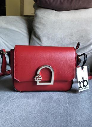 Новая красная брендовая сумка сумочка roccobarocco, michael kors, moschino оригинал