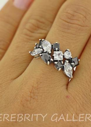 10% скидка - подписчикам! кольцо размер 16,5. e 1253 bk.w серебро 925 каблучка срібна