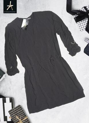 Блуза вискозная асимметричная с поясом atmosphere
