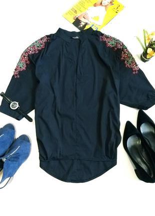 Шикарная блуза, рубашка со стразами и вышивкой