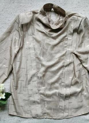 Винтажная благородная блуза из атласа