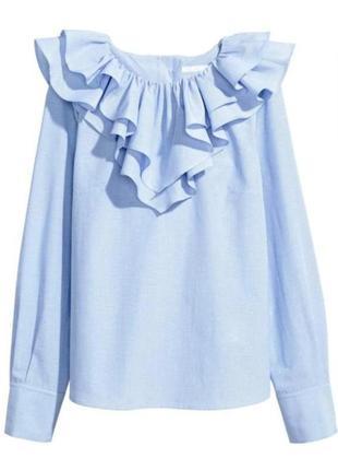 Стильная блуза, рубашка h&m с воланами